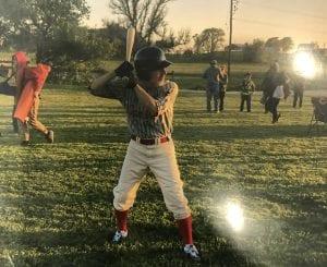 Tom Playing Baseball